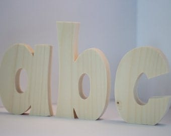 Unfinished Free Standing Wood Letter