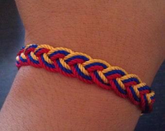 Colombia Friendship Bracelet. Colombian colors