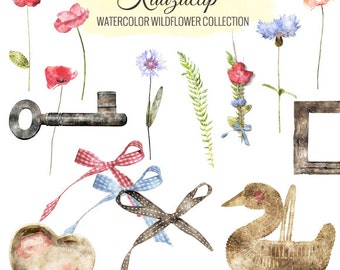 Watercolor Wildflower Collection - Commercial and Personal Use