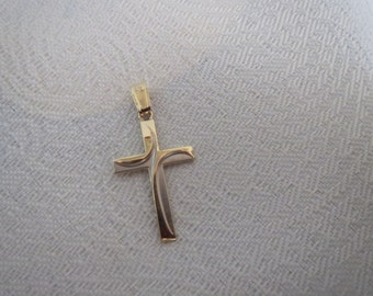 Miraculous 14K White and Yellow Gold Cross Pendant