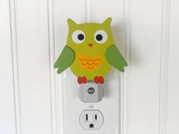 Items Similar To Owl Night Light Nursery Decor Nursery