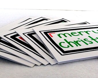 Winter Holiday cards (set of 5, with envelopes)