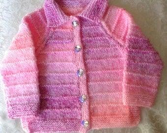 Multi shades of Pink Baby Jacket