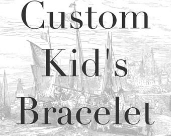 Custom Kid's Bracelet - Double Wrap