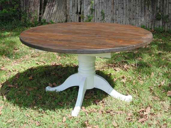 Allegany Round Dining Table Reclaimed Wood Custom Handcrafted