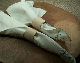 Rustic 12 Birch Bark Wood Napkin Rings, Wedding Decor ,Beach Country Wedding