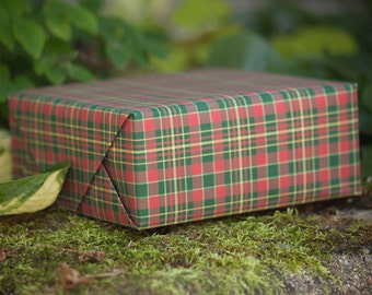 Christmas Tartan Custom Wrapping Paper