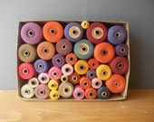 SPOOLS of Thread / AUTUMN Colors / Sewing Tools / Sewing Supplie / Vintage Thread made in USSR