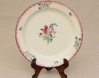 Vintage French Fience Gien Serving Plate, Lorraine pattern