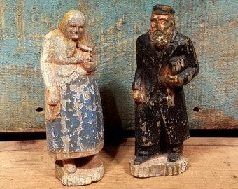 Pair of Vintage Chalkware Figurines