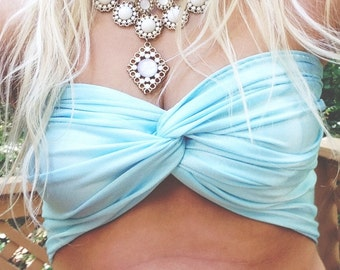 Sky Blue Twist Bandeau
