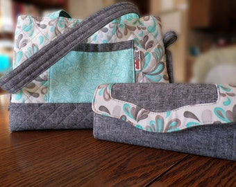 Quilted Mini Bow Tucks purse