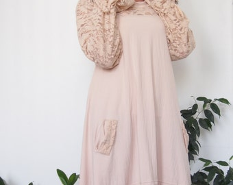 Long tunic Oversized Lace Detail Cotton Lycra Tunic Mini Dress & Nara DT007
