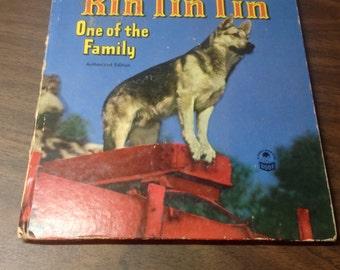"""Vintage Rin Tin Tin book """"One of the Family"""" , Whitman Cozy Corner Book"""
