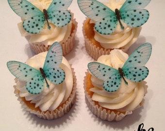 Delicate Blue Edible Butterflies
