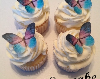Fantasy Purple and Blue Edible Butterflies