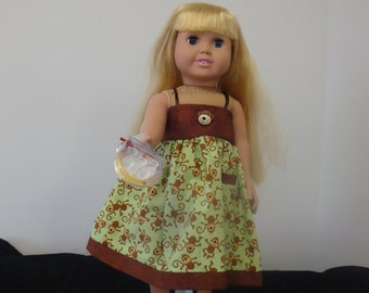 American Girl Doll Sundress w/ Shoes & Toy