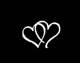 "JOINED HEARTS Love 4"" Vinyl Decal Window Sticker for Car, Truck, Motorcycle, Laptop, Ipad, Window, Wall, ETC"