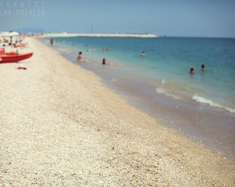 HIGH SUMMER photography print, italian summer beach scene, 8x12