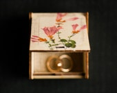 """OOAK Rustic style wedding ring bearer box with botanical picture """"Wild Flowers VIII"""" - wedding decor, rustic style, botanical, wedding box"""
