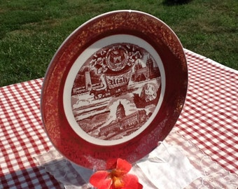 Gorgeous Utah Souvenir Plate!