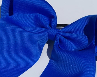 Electric Blue Practice Cheer Bow, Solid Color Cheer Bow, Cheap Cheer Bow, Basic Cheer Bow, 3 Inch Cheer Bow, Texas Sized Bow, Team Discounts