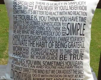 Inspirational Sayings 18X18 Decorative Pillow Cover