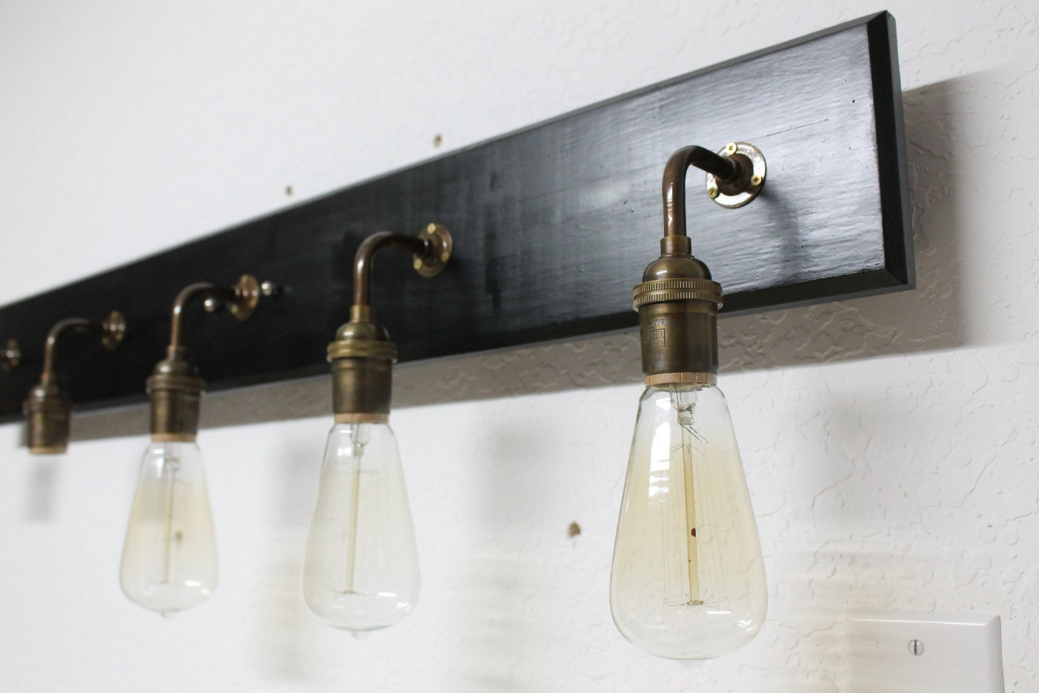 Antique Bathroom Vanity Lights : Bathroom Vanity Lamp Antique Brass Lighting by PartyandHomeDesign