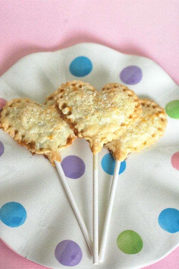 Heart Shaped Pie Pops (100) Edible Favor, Wedding, Birthday, Bridal ...