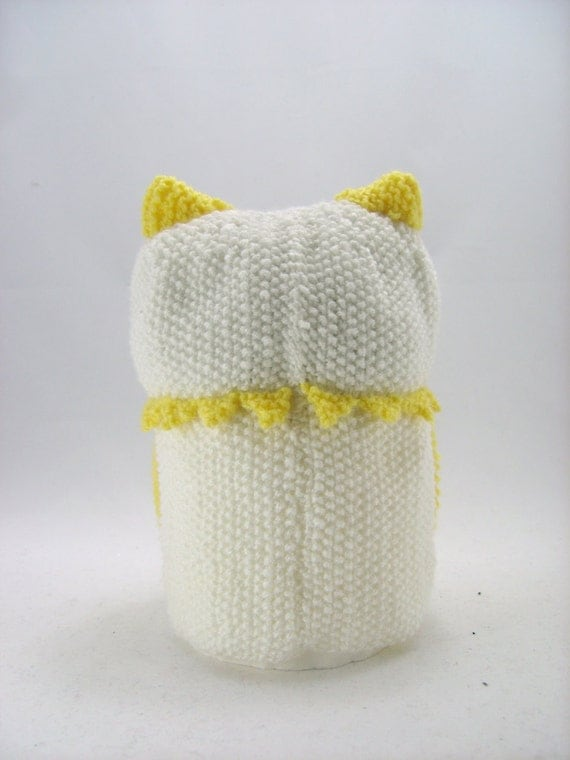 KNITTING PATTERN - Owl Toilet Roll Holder Knitting Pattern Download From Knit...