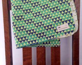 Arrows and triangles baby blanket