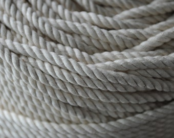Cotton Rope - DIY Rope - Nautical Wedding Cotton Rope - (this listing is per 15 feet) - (1/4 inch rope)