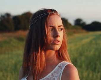 Silver Hair Chain, Head Chain, Headband, Hair Piece