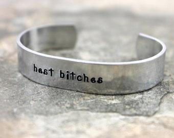Best Bitches Bracelet / Best Friend Gift / Best Friend Bracelet / BFF Gift / Gift for Friend / Gift for Best Friend / Funny Friend Gift