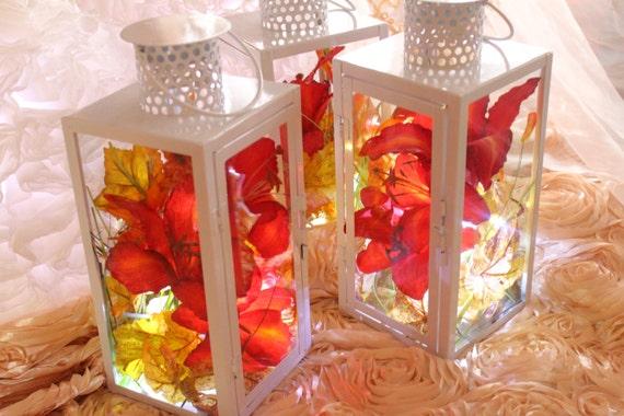 Items similar to white lantern table centerpiece or floor