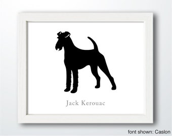 Personalized Hand-Cut Irish Terrier Silhouette with Custom Name - Irish Terrier art, dog portrait, modern dog home decor