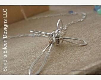 Sterling Silver Cross Pendant - Handmade Artisan Pendant