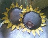 Sunflower Ornie Bowl Filler Handmade Set of 2