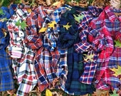 SALE Mystery Oversized Hipster Grunge Brandy Melville Flannel Shirt