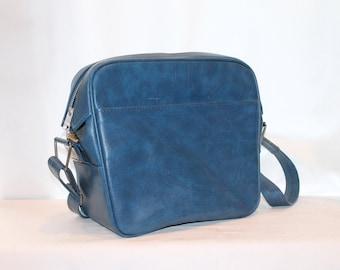 Vintage Blue Samsonite Bag, Carry All, Carry On