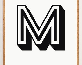 Mid-Century Modern Letter M