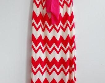 Clearance SALE Bow Chevron Maxi Dress Causal Maxi Dress Long Dress Summer Long Dress Soft Maxi Dress Baby Shower Maxi Dress