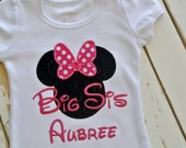 Big Sis Applique Shirt, Big Sister Applique, Personalized Big Sis, Children's Clothing,Girl's Shirt,