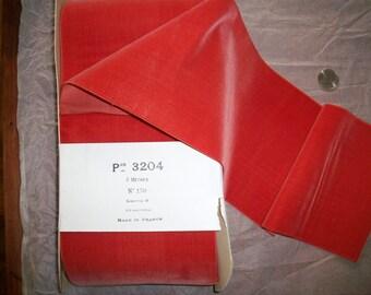 "1 yd. 1920s Antique Vintage Silk/cotton Velvet Ribbon Sash in Sunset Yardage Wide 5 3/4"""