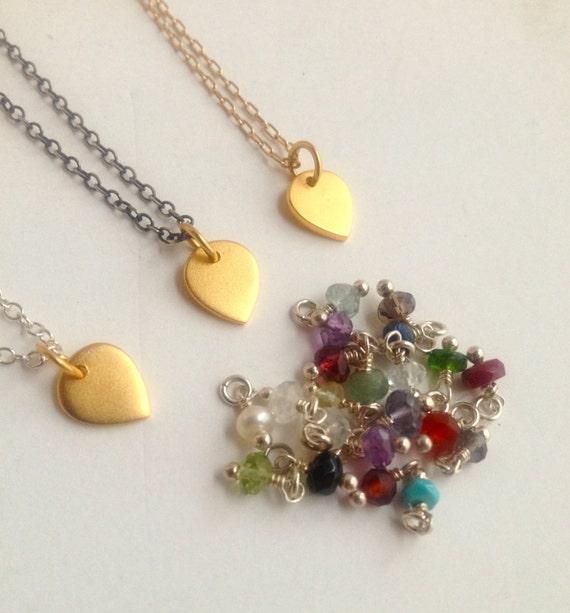 Petite Gold Vermeil Lotus Charm/ Gemstone/ Personalized/ Birthstone/Minimalist/ Yoga Inspired/ Layered/ Meditation/ Zen