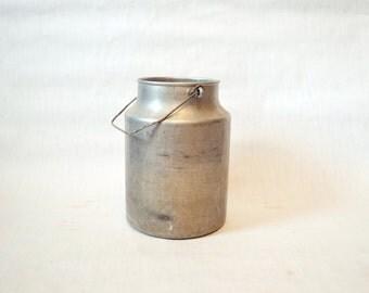 SALE Cute big soviet vintage Aluminium Milk or Cream Can With Lid - 1970s, Made in USSR,Kitchen decor, Farmhouse decor, Soviet Union