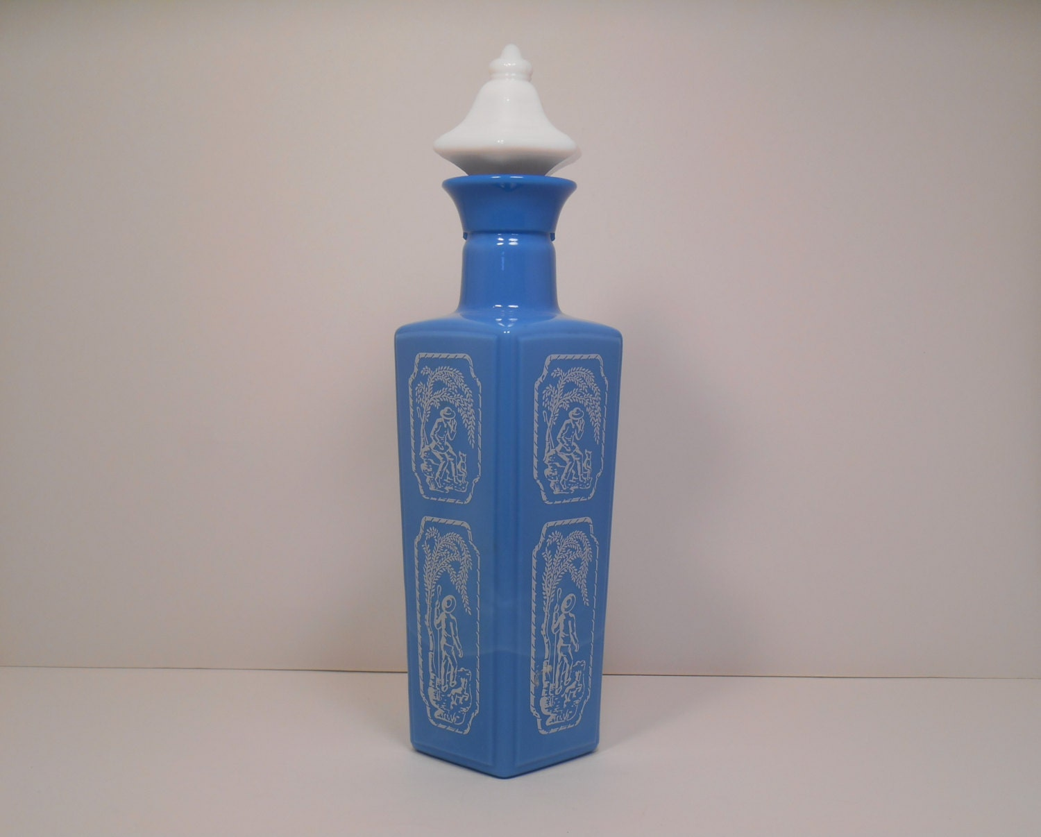 Jim Beam Collectible Decanter Bottle 1965 Beams Choice Blue