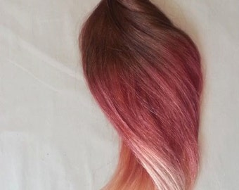 """18"""" 100grs,100s,Nail (U) Tip Pastel Human Hair Extensions # Fire~ BALAYAGE OMBRE"""