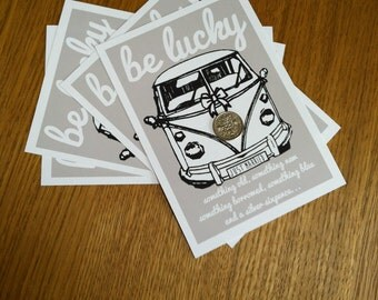 VW Camper Lucky Sixpence Wedding Gift / Favour