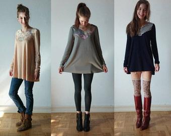Limited, a-line tunics - several designs